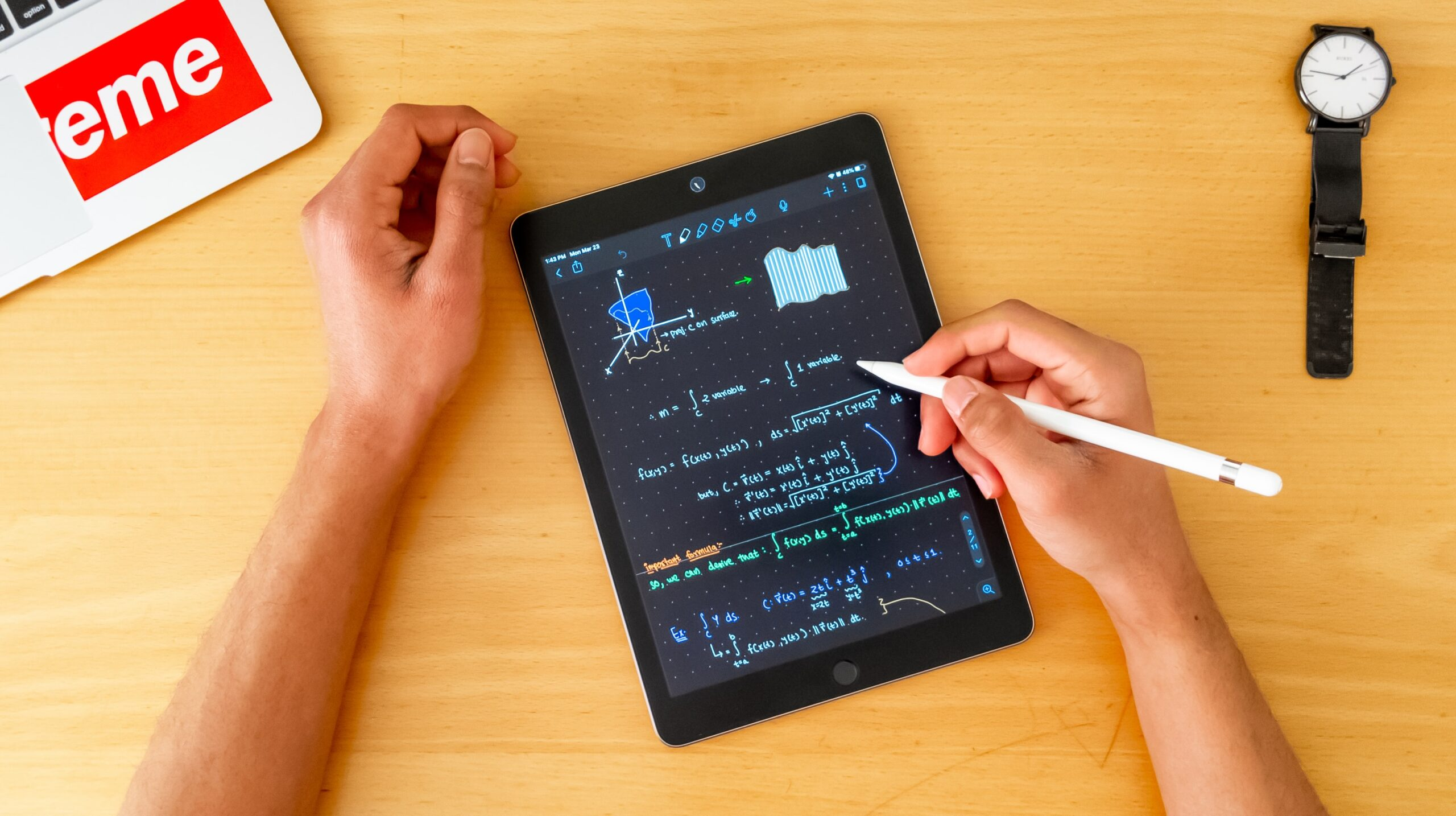 tablet running adaptive learning technology