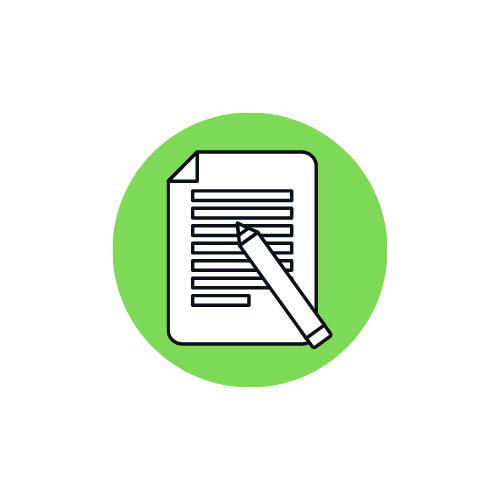 icon representing a test