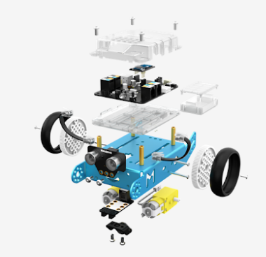 disassembled picture of mbot robot