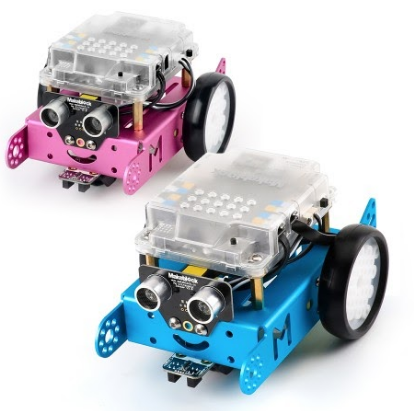mbot in blue and pink