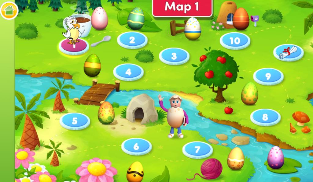 Reading Eggs map