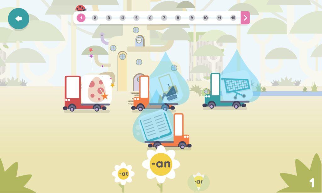 hooked on phonics lesson screen