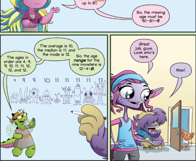 Screenshot of Beast Academy Comic teaching math