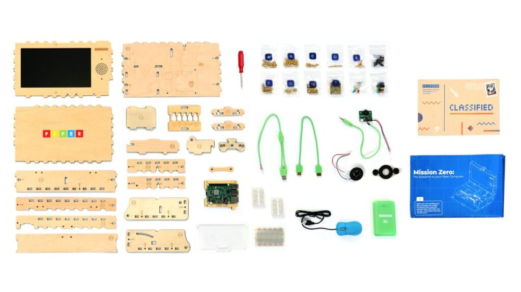 Exploded view of a piper computer kit