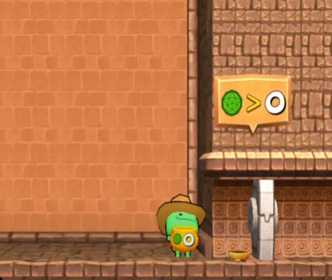 Screenshot of codespark game crocodile catch