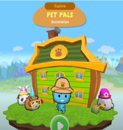 screenshot of codespark academy minigame from the menu