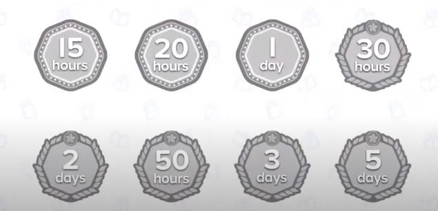 screenshot of ReadingIQ badges