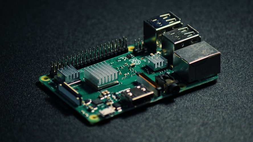 Photo of Raspberry Pi device