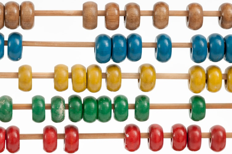 An abacus, representing a classic way of doing hands-on math