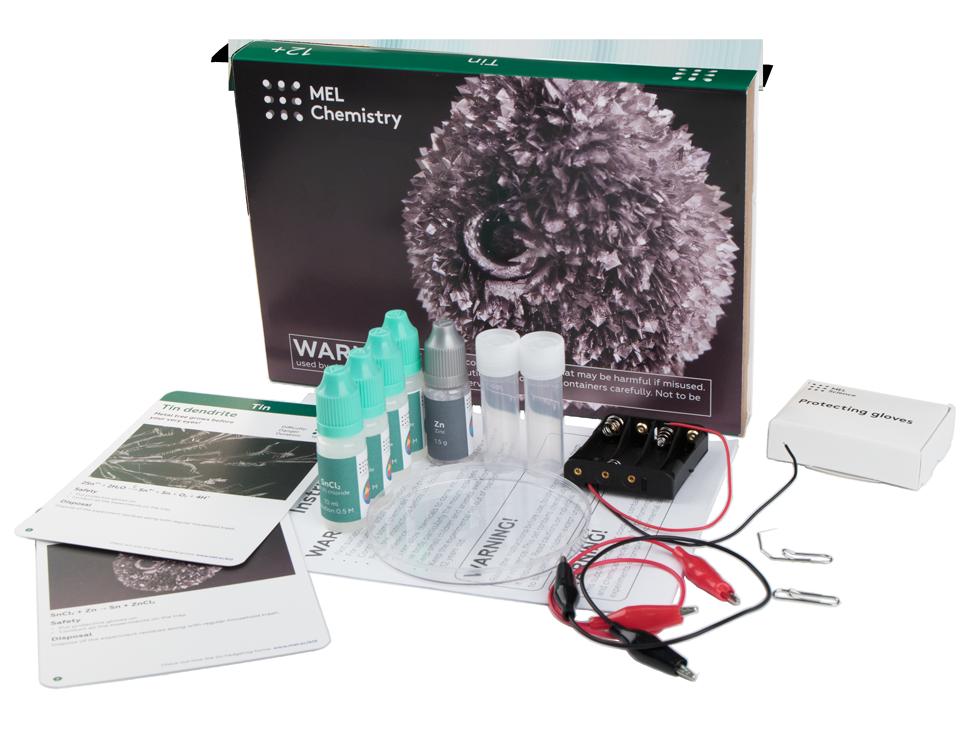 Unboxed photo of Mel Chemistry Tin set