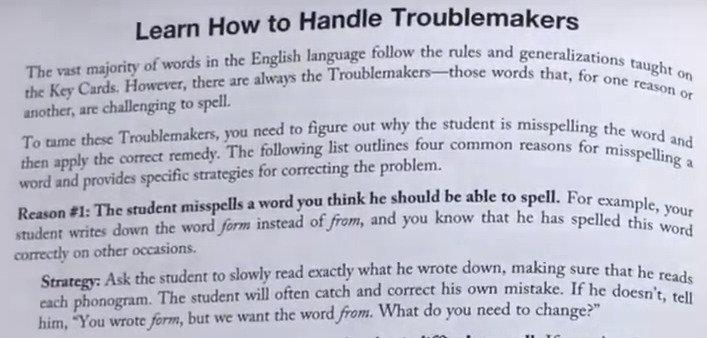 Example of All About Reading dealing with irregular spellings